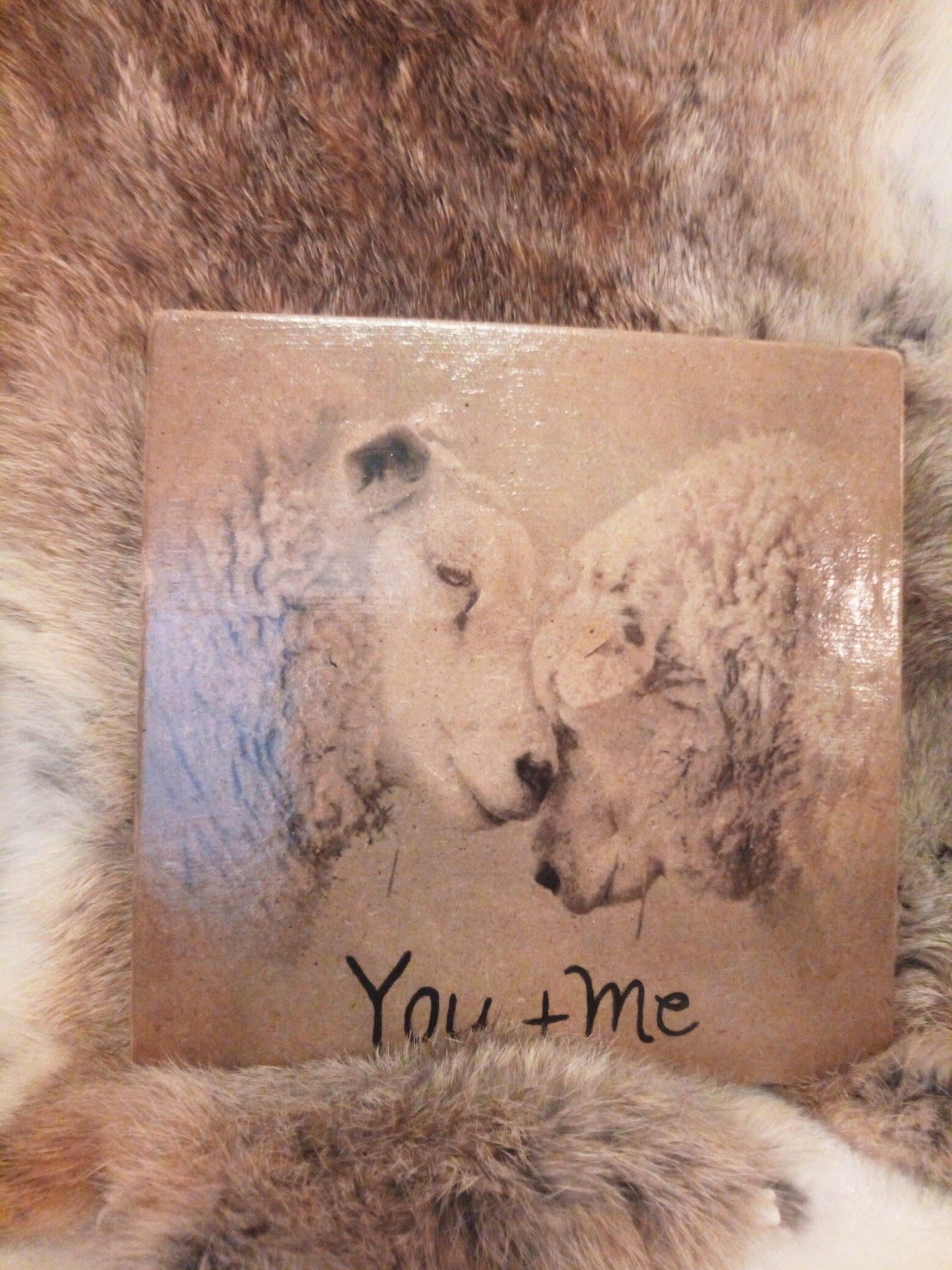 Deco-bordje: Schaap - You+me