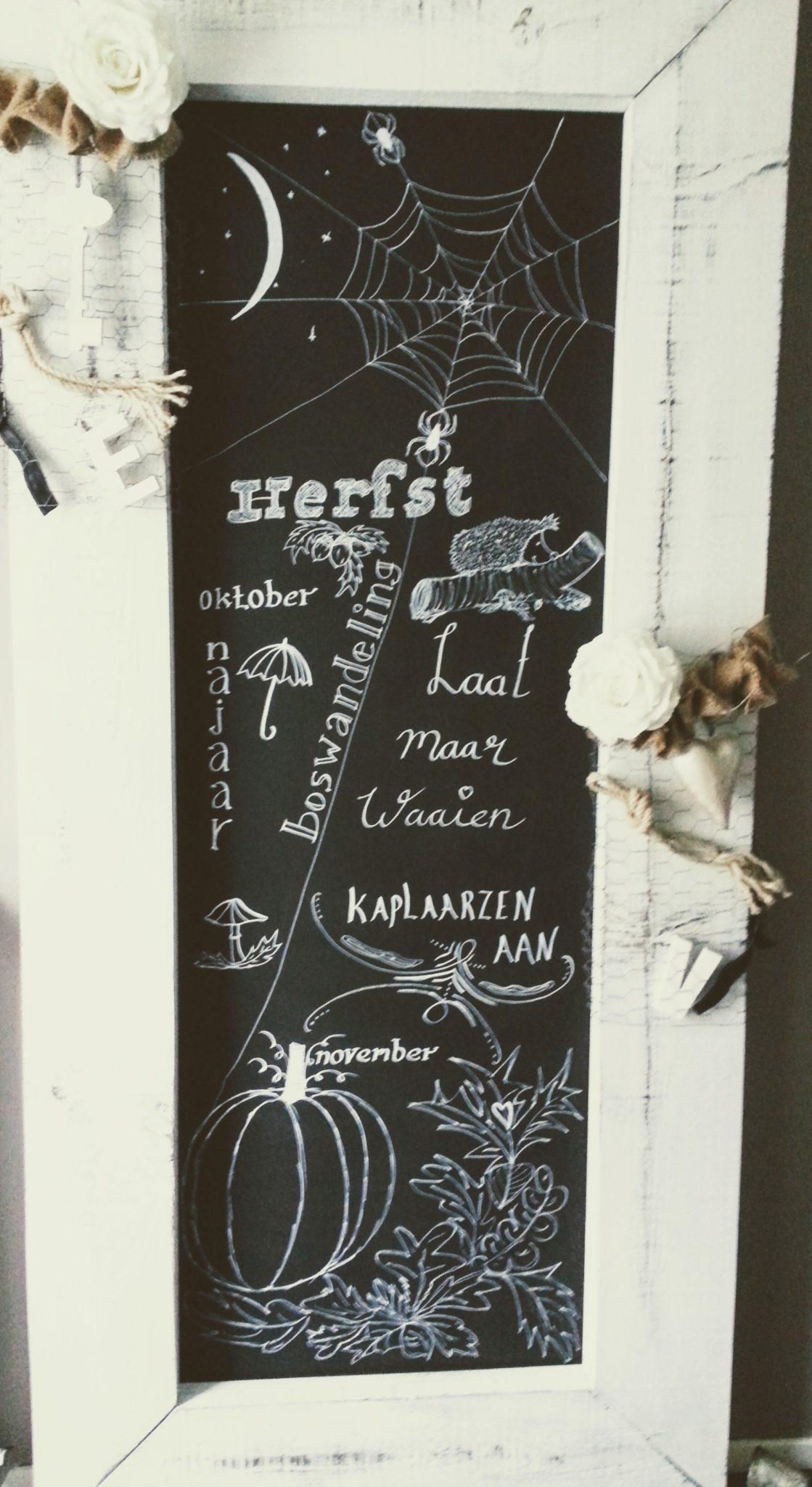 Krijttekst - Herfst