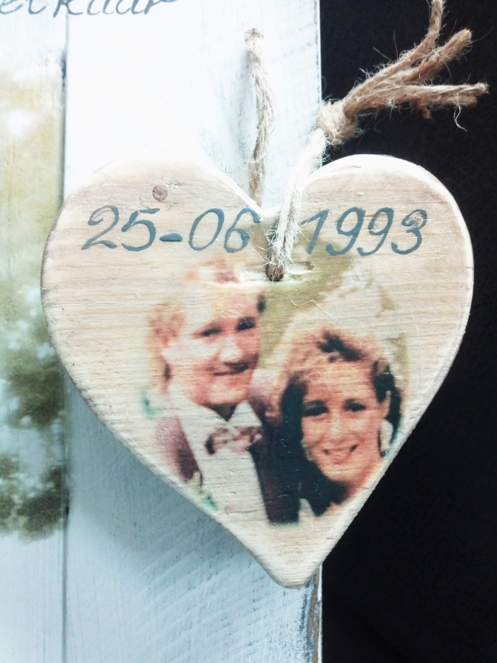 Huwelijk - 25 jaar met foto, tekst en accessoire