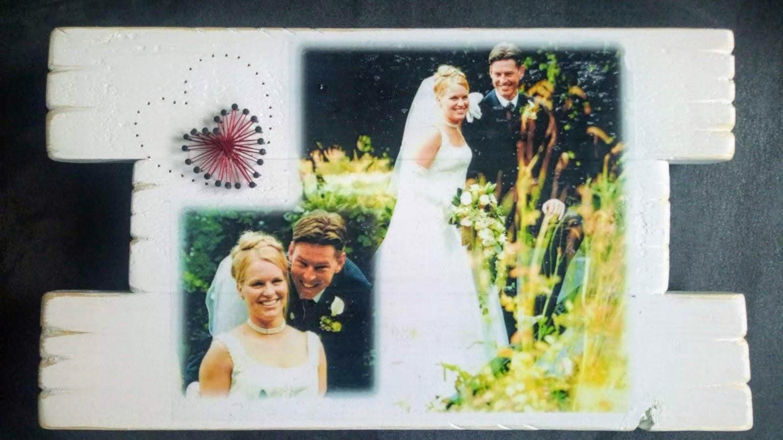 Herinnering - Huwelijk met foto en string-art