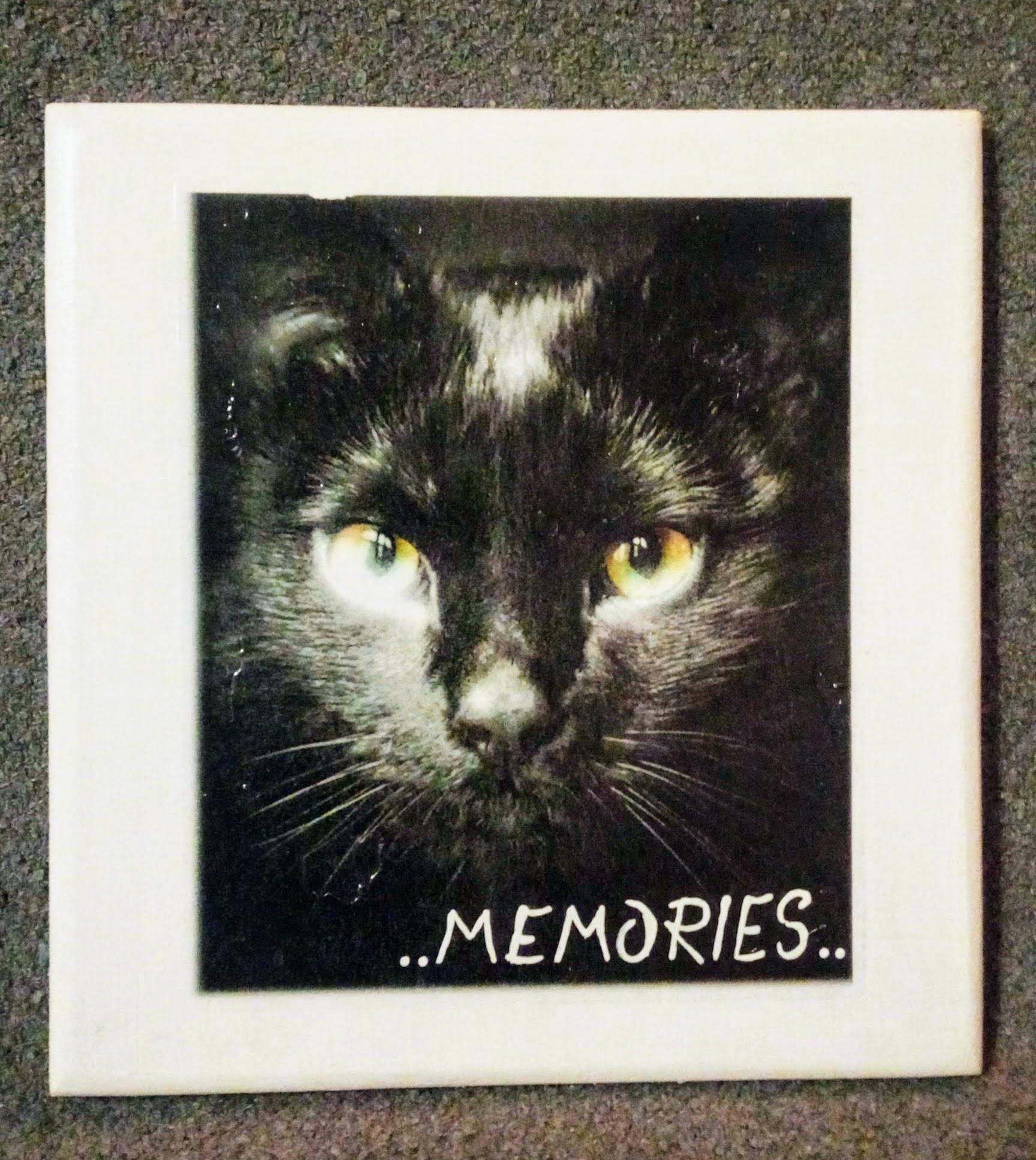 Herinneringsbord voorzien van afbeelding (foto) en tekst