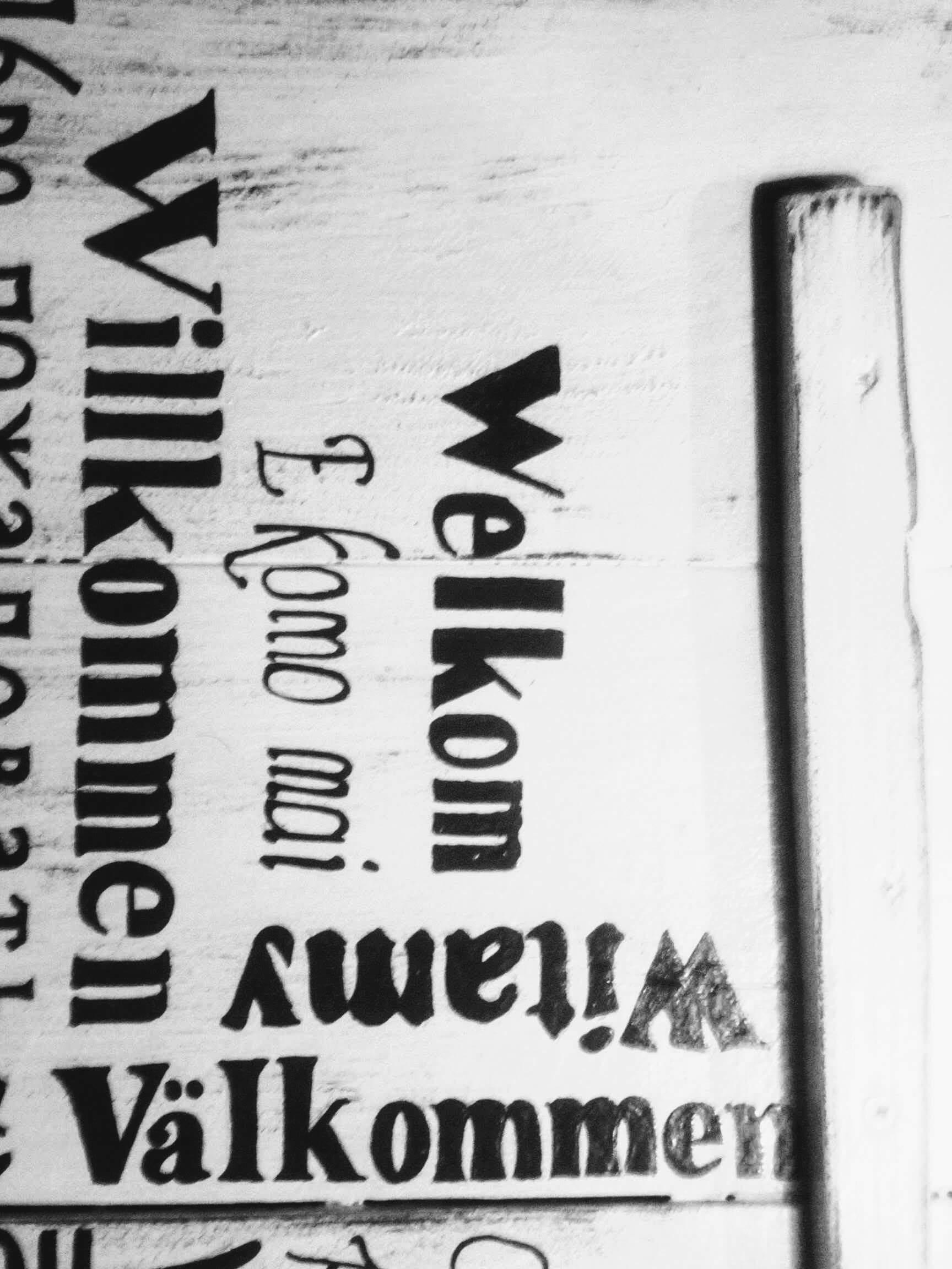 Deco-bord - Welkom gemaakt van pallethout