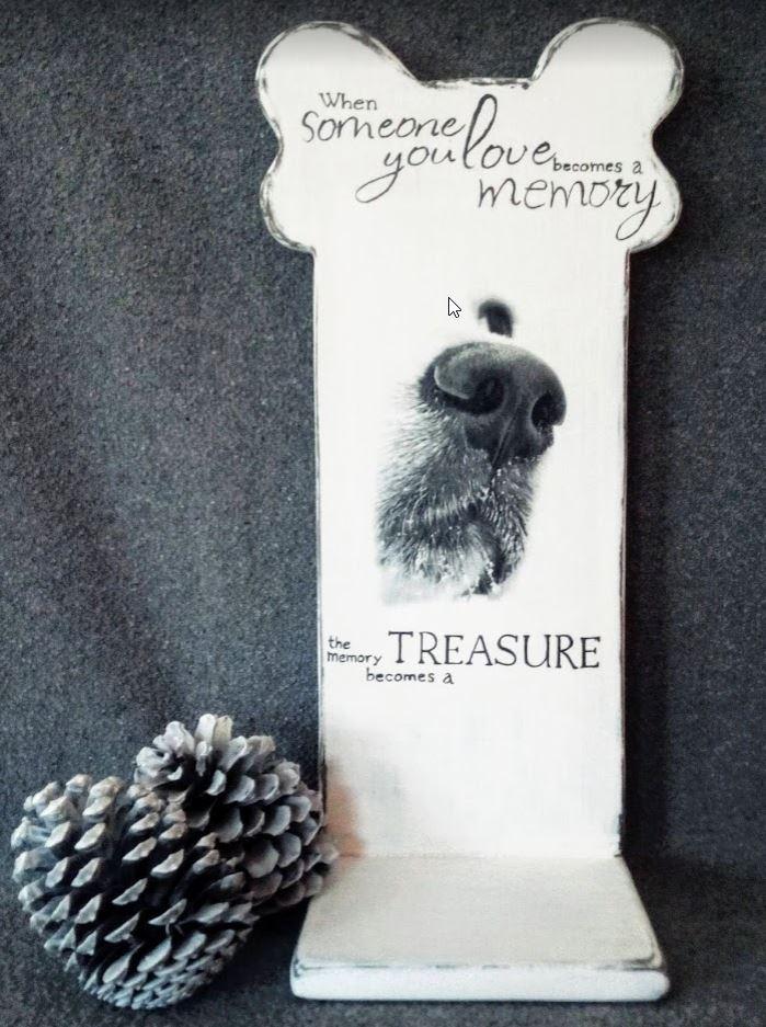 Memories - Urnenstandaard met foto en tekst - hond