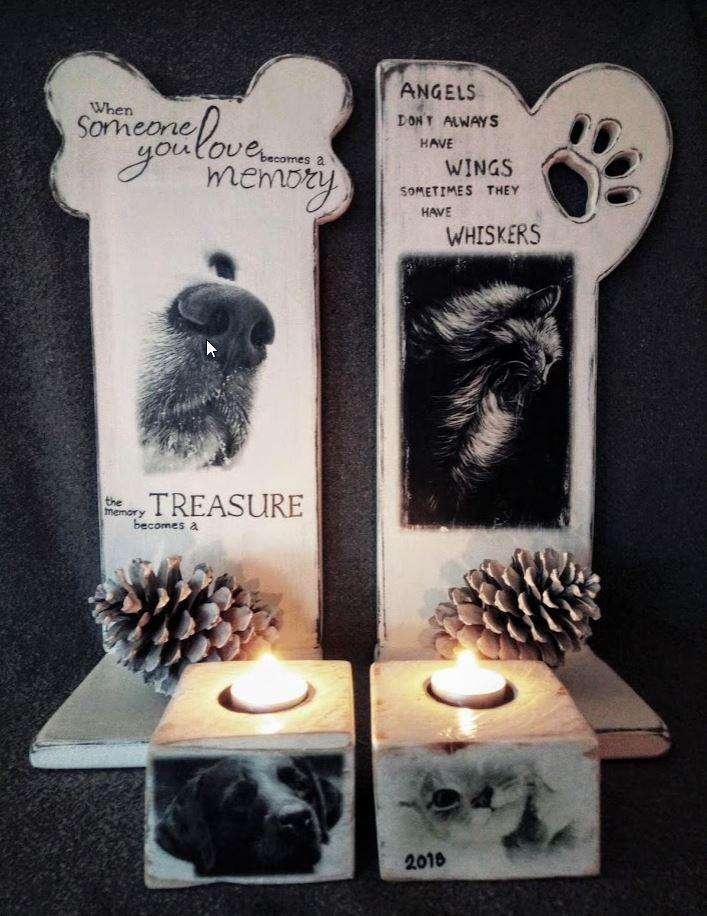 Memories - Urnenstandaard met foto en tekst - kat