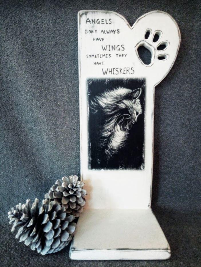 Memories – Urnenstandaard met foto en tekst – kat – poes