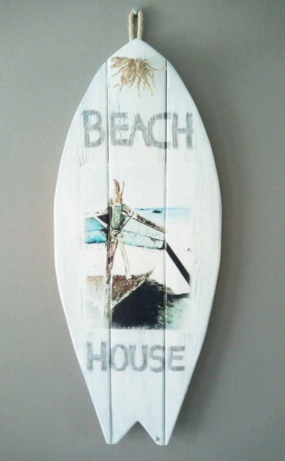 Beach House: <br> Surfboard landelijke stijl